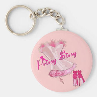 PRISSY SISSY - Pink Feathered Corset Key Chain