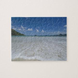 Pristine Tropical White Beach Jigsaw Puzzle