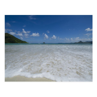 Pristine Tropical White Beach Postcard
