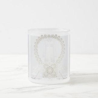 Pristine White Dress Frosted Glass Mug