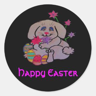 Pritty Bunny Round Stickers
