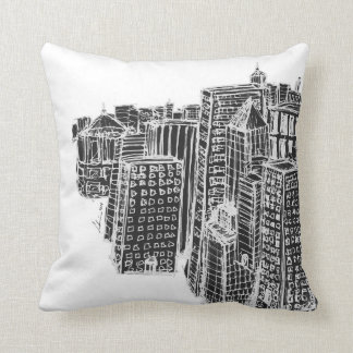Pritty Citty Throw Pillows