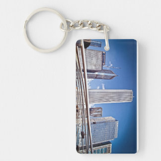Pritzker Pavilion and Great Lawn Chicago, Il. Single-Sided Rectangular Acrylic Keychain