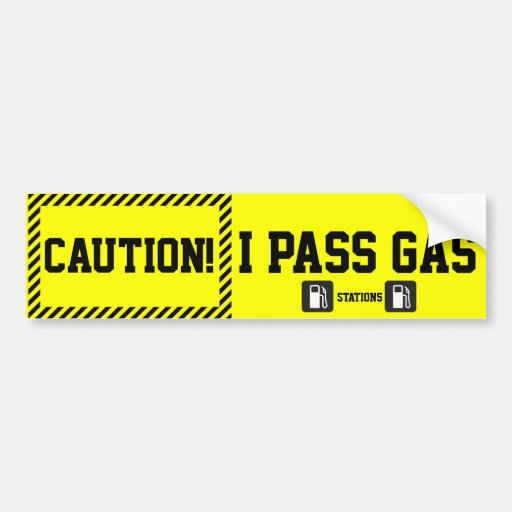 Prius Bumper Sticker Pas Gas Stations