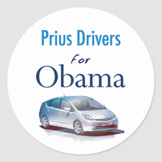 Prius Drivers for Obama Stickers