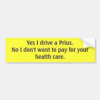 Prius Driving Capitalist Car Bumper Sticker