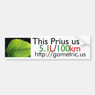 Prius Fuel Efficiency Bumper Sticker