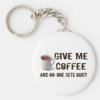 Privación de Caffein Llavero Redondo Tipo Pin