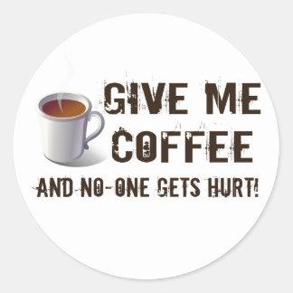 Privación de Caffein Pegatinas Redondas