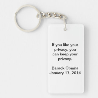 Privacy Barack Obama Keychain