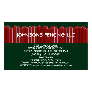 Privacy Fence Double-Sided Standard Business Cards (Pack Of 100)