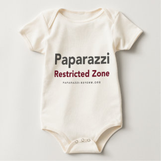 Privacy Wanted and Paparazzi Restricted Zone Baby Bodysuit