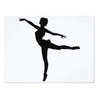 """~ PRIVADO del BAILARÍN (silueta - danza moderna) Invitación 6.5"""" X 8.75"""""""