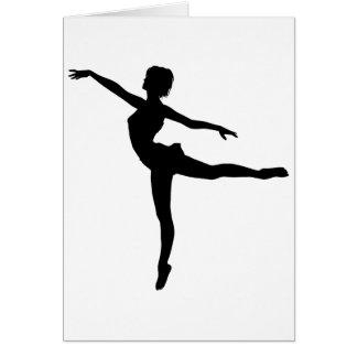 ~ PRIVADO del BAILARÍN (silueta - danza moderna) Tarjeta De Felicitación