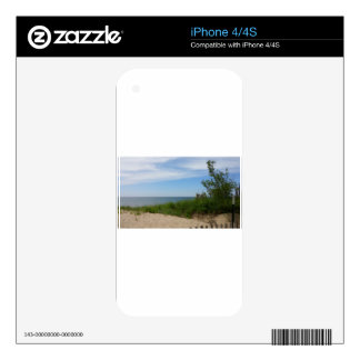 Private Beach on Lake Michigan iPhone 4S Decal
