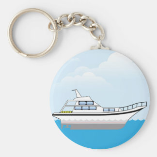 Private Boat Basic Round Button Keychain
