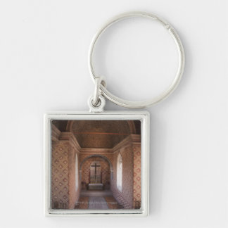 Private Chapel In Sintra National Palace Silver-Colored Square Keychain
