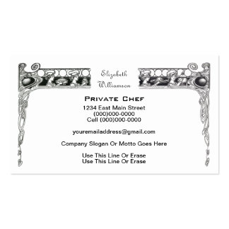 Private Chef / Food Industry Business Cards
