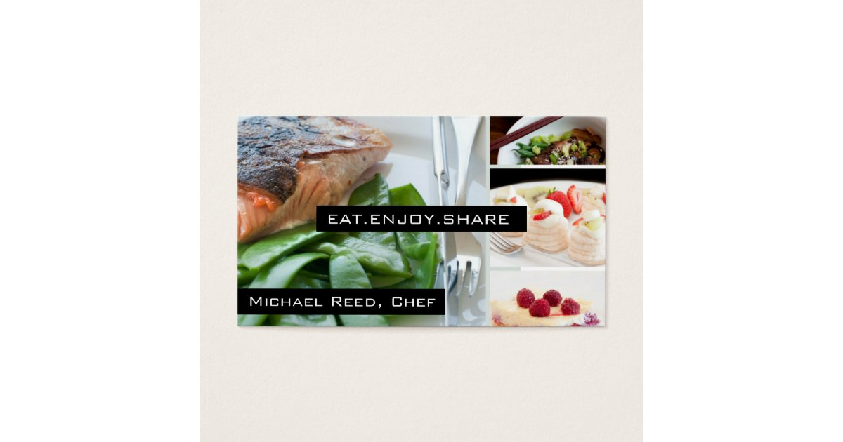 Private Chef Services | Catering Business Card | Zazzle.com
