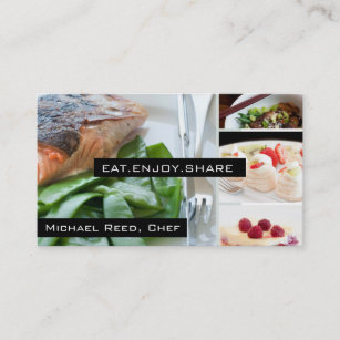 Catering business cards zazzle private chef services catering business card reheart Choice Image