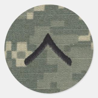 Private Classic Round Sticker