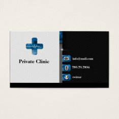 Private Clinic Doctor Medical Medicine First Aid Business Card at Zazzle