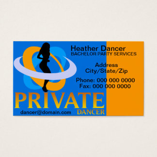 Private Dancer Business Card