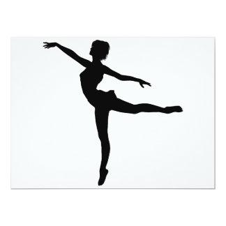 PRIVATE DANCER (silhouette - modern dance) ~ 6.5x8.75 Paper Invitation Card