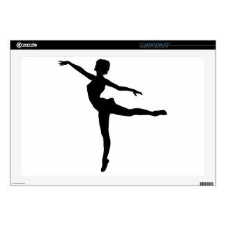 "PRIVATE DANCER (silhouette - modern dance) ~ 17"" Laptop Skin"