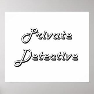 Private Detective Classic Job Design Poster