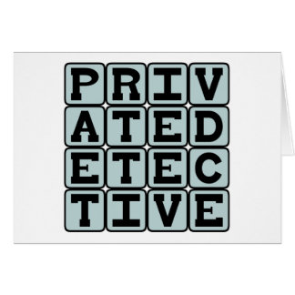 Private Detective, Gumshoe Card