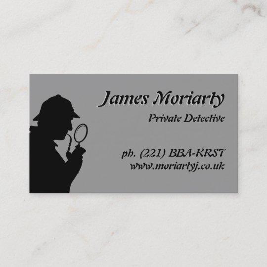 Private detectiveinvestigator business card zazzle private detectiveinvestigator business card colourmoves