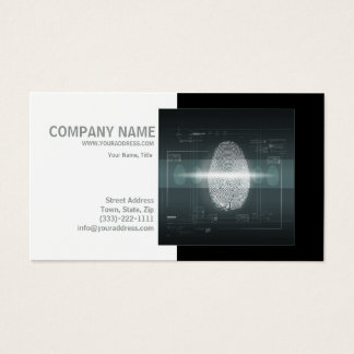 Private Detective Investigator Fingerprint Card