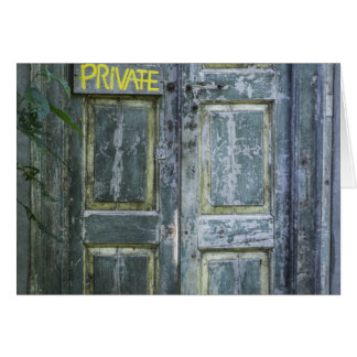 Private Door Card