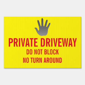 PRIVATE DRIVEWAY LAWN SIGN
