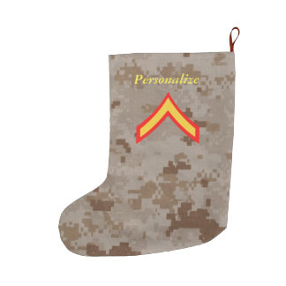 Private First Class Marine Rank Christmas Stocking