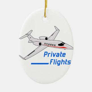 Private Flights Ceramic Ornament