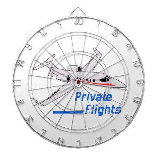 Private Flights Dartboard