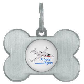 Private Flights Pet ID Tag