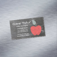 Private Home Tutor Apple Scrubbed Style Chalkboard