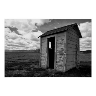 Private Idaho Outhouse Posters