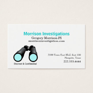 Private Investigation Binoculars Business Card