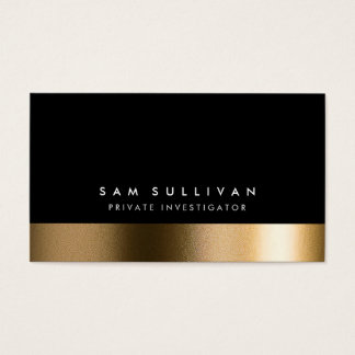 Private Investigator Bold Black Gold Business Card
