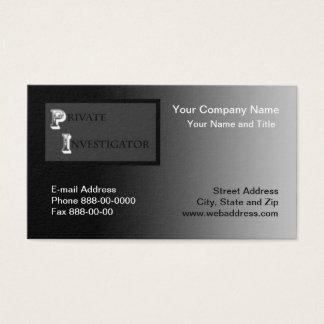 Private Investigator Business Card