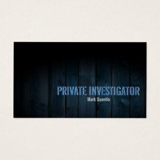 Private Investigator Business Card Dark Wood