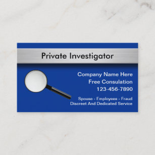Law enforcement business cards templates zazzle private investigator business cards colourmoves
