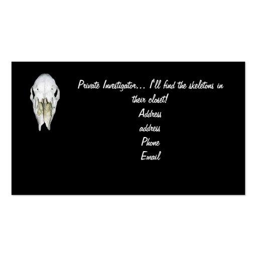 Private investigator business cards zazzle for Sample private investigator business cards