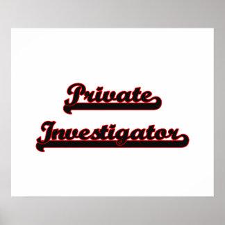 Private Investigator Classic Job Design Poster
