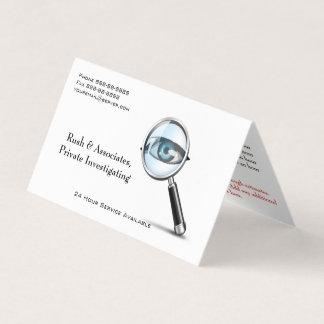 Private Investigator Detective Business Card