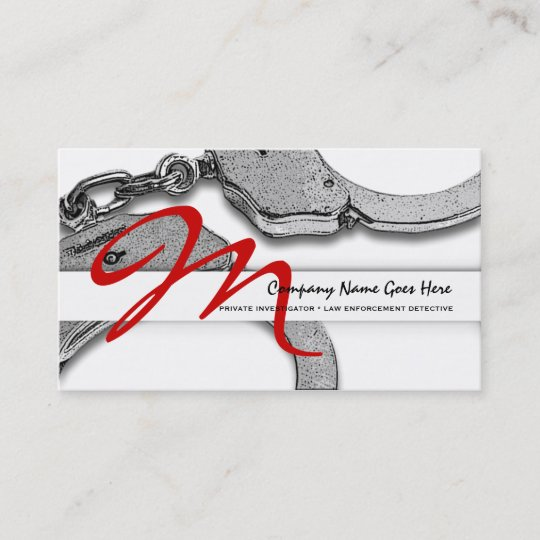 Private investigator law detective enforcement business card private investigator law detective enforcement business card colourmoves